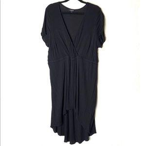 TORRID black high/low v neck mini dress size 1X